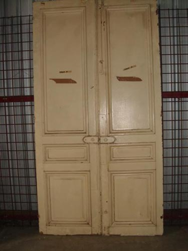 Pair French oak chateau doors H 250 cm