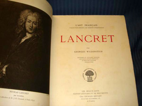 Lancret by G Wildenstein, Paris