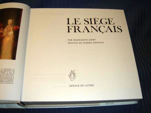 Le Siege Francaise by Jarry Devinoy 1973