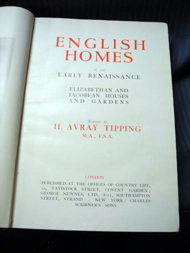 English Homes Renaissance- by Tipping 1