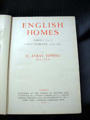 English Homes 1714-1760 by Tipping 1921