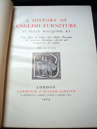 the Age of Oak , Macquoid 1904, London