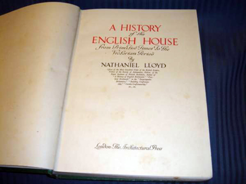History of English House N Lloyd 1949