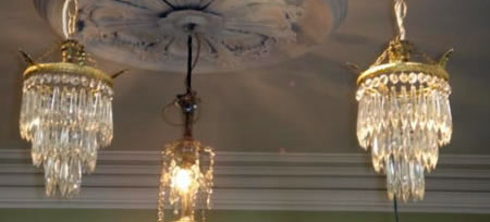 Pr french ormolu and crystal chandeliers