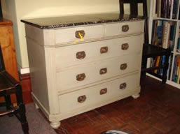 French Charles X painted chest of drawer