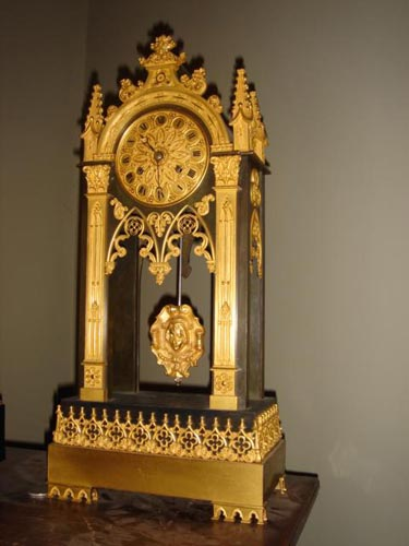French Bronze Gothic Ormolu clock 1825