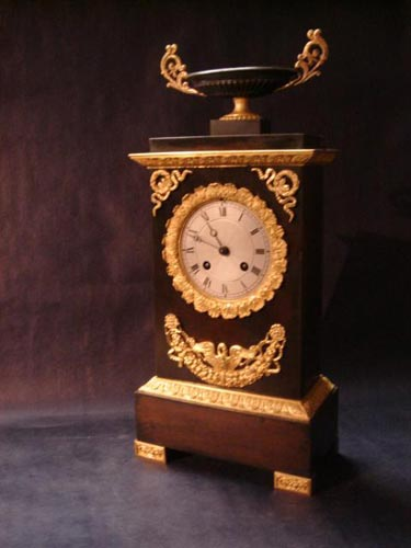 French bronze clock dated 1830