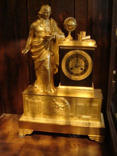 Gilt french Bronze Cardinal clock 1827