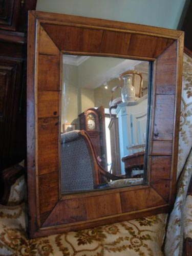 Provincial timber framed mirror