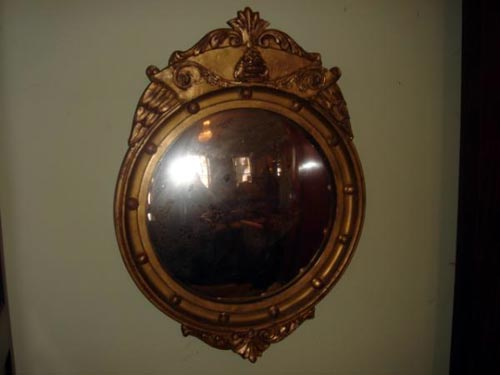 American giltwood mirror