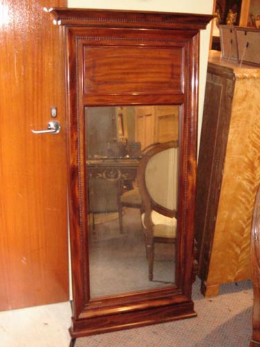 Tall mahogany Empire pier mirror 1830