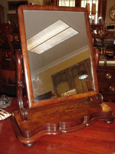 Mahogany early Victorian vanity mirror