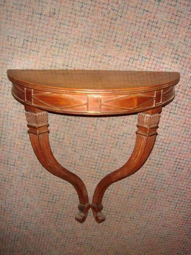 Directoire French Walnut wall console