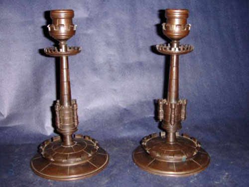 Beautiful castellated candelsticks