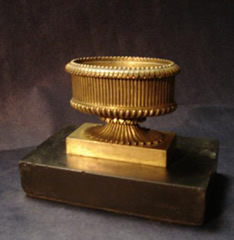 Regency period gilt bronze paperweight
