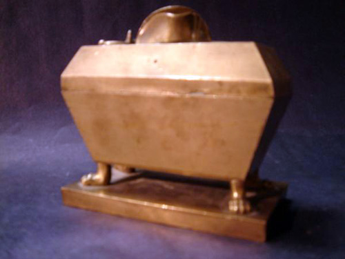 Extremely rare ormolu Empire inkwell