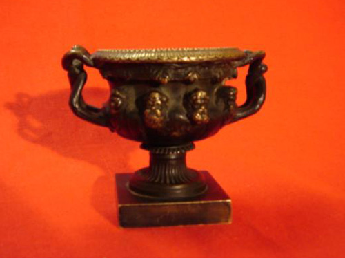 Solid Bronze antique Warrick Vase