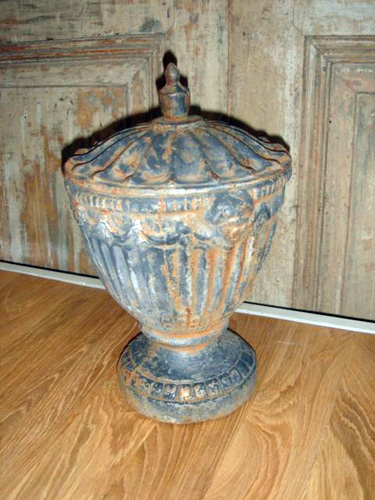 cast iron Chestnut urn