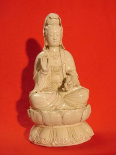 Ivory Porcelain goddess of mercy Guanyin