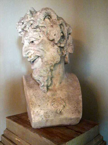 Rare Carved bust of Bacchus Napoleon III