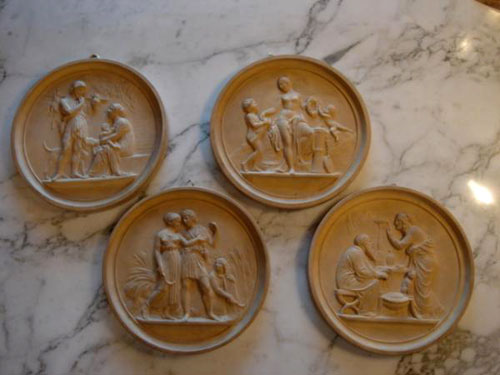 Four Terracotta signed Danish plaques