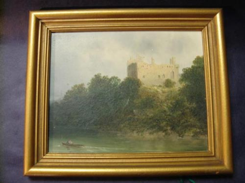 Oil of castle by Jd Moultray